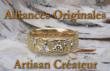 Logo de alliances-créations mariage Atelier du Soleil fou & de la Lune amoureuse